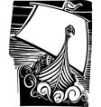 Viking Longship Sailing vector image vector image