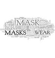 who s behind the mask text word cloud concept vector image vector image