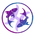 zodiac sign Pisces watercolor vector image vector image