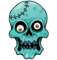 Zombie face vector image vector image