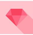 Big pink diamond vector image