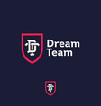 dream team logo business team emblem d t vector image