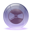 3D glass sphere and music cd icon vector image vector image