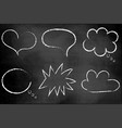 a set clouds on a chalkboard realistic to vector image vector image