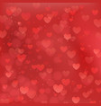 abstract background for valentines day with red vector image