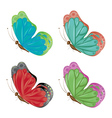 Abstract colorful butterflies2 vector image