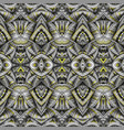 abstract ethnic vintage yellow and grey background vector image vector image