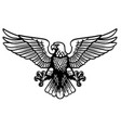 black and white heraldry eagle vector image vector image