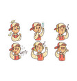 boy showing different emotions set funny male vector image vector image