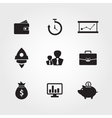 Business template Finance Web Icons vector image