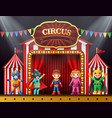 cartoon children in different costume on the stage vector image vector image