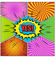 comic book page colorful composition vector image vector image