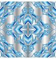 elegance light blue striped floral seamless vector image