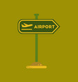 flat icon on background airport sign vector image vector image