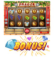 Game template with bonus award vector image vector image