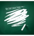 Hand drawn chalk strokes vector image vector image