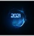 happy new 2021 year vector image