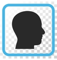 Head Profile Icon In a Frame vector image vector image