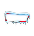 horizontal xmas winter banner with ice and snow vector image