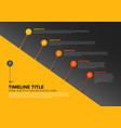 infographic timeline report template with bubbles vector image