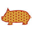 isolated abstract pig chinese new year vector image