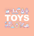 kids toys word concepts banner vector image