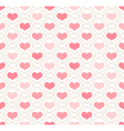 Light background with repeating hearts vector image