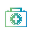 line briefcase with medical first aid kit vector image vector image