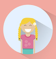 Little blonde girl smiling round icon vector image vector image