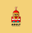 logo adult simple mascot style vector image