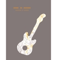 magical floral guitar music silhouette vector image vector image
