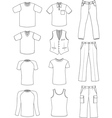 man clothes summer collection vector image vector image