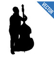 man silhouette playing double bass vector image