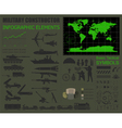 Military infographic template with Top powe vector image vector image