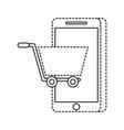 mobile phone shopping online technology digital vector image