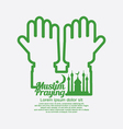 Muslim Praying Concept Design vector image