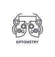 optometry thin line icon sign symbol vector image