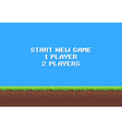 Pixel Game Background vector image