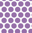 Polka dot background seamless pattern Purple dot vector image vector image