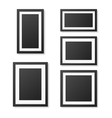 Realistic blank picture frame templates set vector image vector image