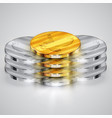realistic coins vector image vector image
