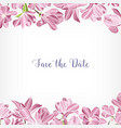 save the date card template decorated with floral vector image vector image