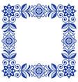 scandinavian folk art frame cute floral vector image vector image
