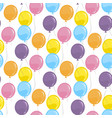 seamless pattern with balloons party element vector image