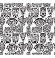 seamless pattern with hand drawn fancy masks in vector image