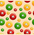 seamless texture with buttons vector image vector image