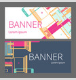 set of colorful banners with smartphones laptops vector image vector image