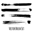Set of four grunge brushes vector image