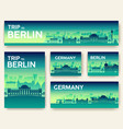 set of germany landscape country ornament travel vector image