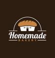 simple vintage style homemade bakery logo design